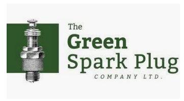 green spark plug logo